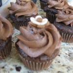 french silk chocolate mousse cupcake