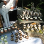 assortment of yummy cupcakes with zoo animal decorations 2